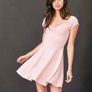 Urban Outfitters Pink Cinched Dress